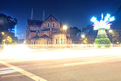 Базилика собора Нотр-Дам ба герцогов tho nha Сайгона Стоковое Фото
