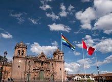 Базилика собора предположения девственницы в Cusco Стоковое Изображение