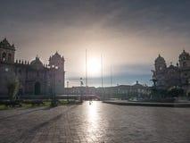 Базилика собора предположения девственницы на главной площади Cusco Стоковые Фото
