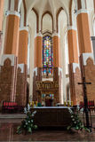 Базилика собора St James апостол, Szczecin - алтар a Стоковые Фотографии RF