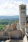 Базилика d'Assisi Сан Francesco, Assisi, Италии Стоковая Фотография