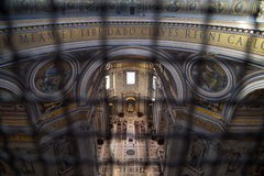 Базилика di Сан Pietro в Ватикане Стоковое Изображение RF
