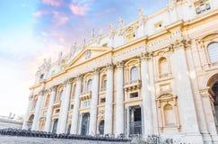 Базилика di Сан Pietro в государстве Ватикан Стоковое Изображение