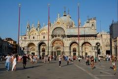 Базилика ` s St Mark в Венеции, Италии Стоковое Изображение