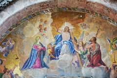 Базилика ` s St Mark, деталь, в Венеции, Италия Стоковые Изображения
