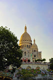 Базилика Sacre Coeur, Париж, Франция Стоковые Фотографии RF