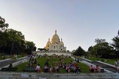 Базилика Sacre Coeur, Париж, Франция Стоковые Изображения RF