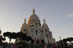 Базилика Sacre Coeur, Париж, Франция Стоковое фото RF