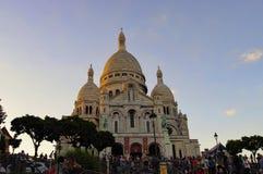 Базилика Sacre Coeur, Париж, Франция Стоковое Изображение RF