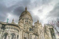 Базилика Sacre Coeur montmartre, Парижа, Франции Стоковые Изображения RF