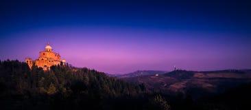 Базилика San Luca, болонья, Италия Стоковое Изображение RF