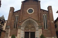 Базилика sant'anastasia Вероны Стоковые Фото