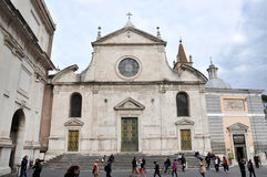 Базилика Santa Maria del Popolo Италия rome Стоковое Изображение RF