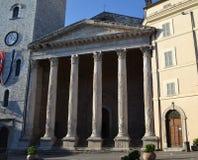 Базилика sopra Minerva - Assisi Santa Maria стоковые изображения