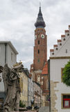 Базилика St Джейкоба, Straubing, Германии стоковые фото