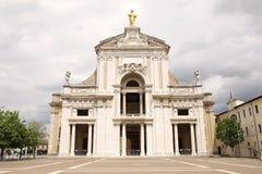 Базилика St Mary ангелов в Assisi, Умбрии, Италии стоковые фотографии rf