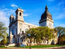 Базилика St Mary в Миннеаполисе, MN стоковое фото