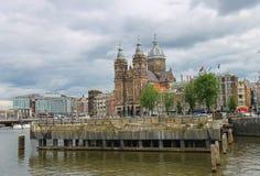 Базилика St Nicholas в Амстердаме Стоковое Изображение RF
