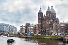 Базилика St Nicholas в Амстердаме Стоковые Изображения RF