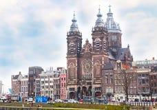 Базилика St Nicholas в Амстердаме Стоковое Фото
