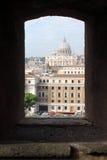 Базилика St Peter †Рима «от Castel Sant'Angelo Стоковое Изображение RF