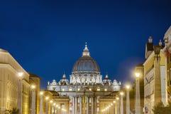 Базилика St Peter в государстве Ватикан, Италии Стоковая Фотография
