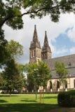 Базилика St Peter и Пол на Vysehrad рокируют Прага стоковые фотографии rf