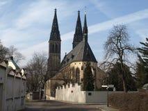 Базилика St Peter и St Paul, ehrad ¡ VyÅ, Праги Стоковые Изображения RF