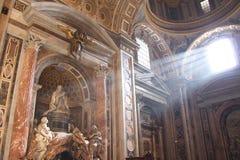 Базилика St Peter, Рим, Ватикан, Италия Стоковая Фотография RF