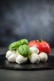 Базилик и mozzarella томата Стоковая Фотография RF
