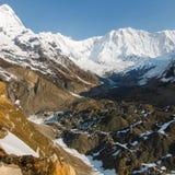 Базовый лагерьÂ Annapurna в Непале Стоковая Фотография RF