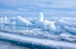 Байкал в зиме Стоковая Фотография