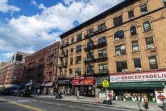 Бакалея в Гарлеме в Нью-Йорке, США стоковое фото rf