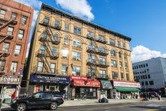 Бакалея и магазины в Гарлеме, Нью-Йорке, США стоковые фото