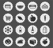 Бакалеи значки просто Стоковое Изображение