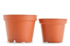 2 бака для цвета заводов на белой предпосылке Стоковое Изображение RF