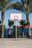 Бакборт баскетбола в ладонях Стоковая Фотография