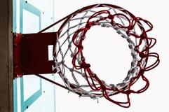 Бакборт баскетбола ниже Стоковое Изображение RF