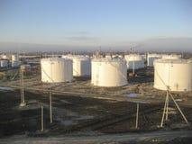 Баки для хранения для нефтепродуктов Стоковые Изображения RF