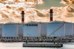 Баки для хранения Tradebe стоковое изображение