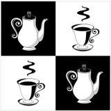 баки кофейных чашек иллюстрация вектора