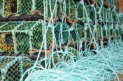 Баки омара Fishermans дальше на стороне дока Стоковая Фотография RF