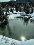 Баки чернил на каньоне Johnston в зиме стоковое фото rf