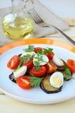 баклажан eggs томат салата Стоковые Изображения