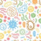 Бактерии вирус и клетки микроорганизма семенозачатков Стоковое Изображение RF