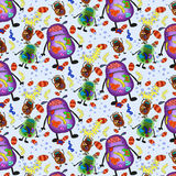 бактерии делают по образцу безшовные вирусы плиток Стоковая Фотография
