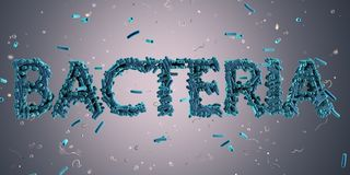 Бактерии надписи сделанные из бактериальных клеток бесплатная иллюстрация