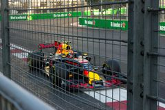 Баку, Азербайджан - 6-ое июня 2017: Формула 1 Grand Prix Grand Prix Азербайджана стоковая фотография