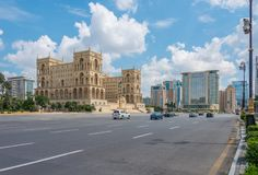 Баку - 18-ое июля 2015: Дом правительства в Азербайджане, Баку Gove Стоковое Фото