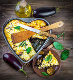 Баклажан и оливковое масло стоковые изображения